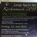 Lange Nacht der Kirchenmusik 2018